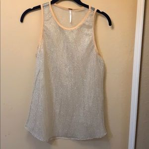 Free People mesh tank top. Size small.